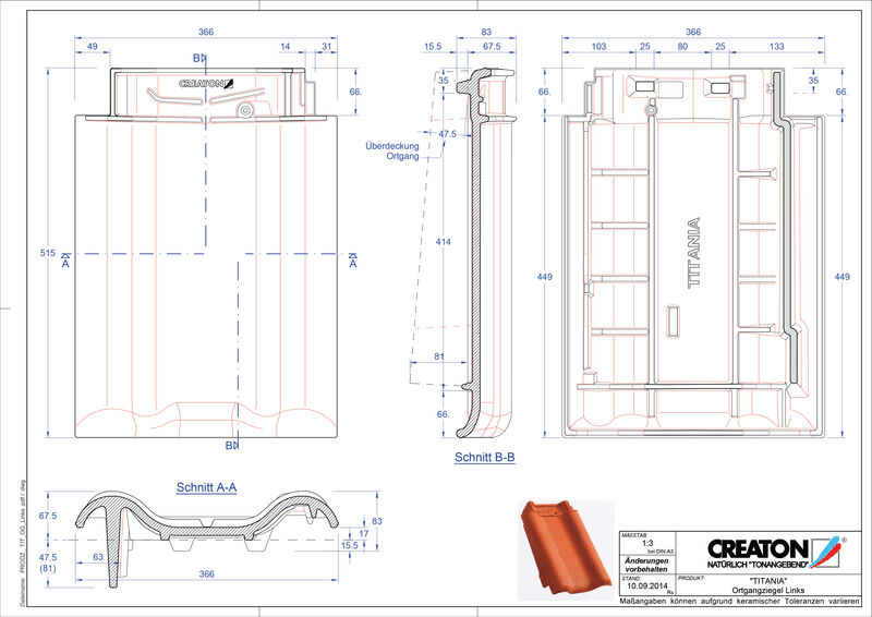 Plik CAD produktu TITANIA dachówka boczna lewa OGL