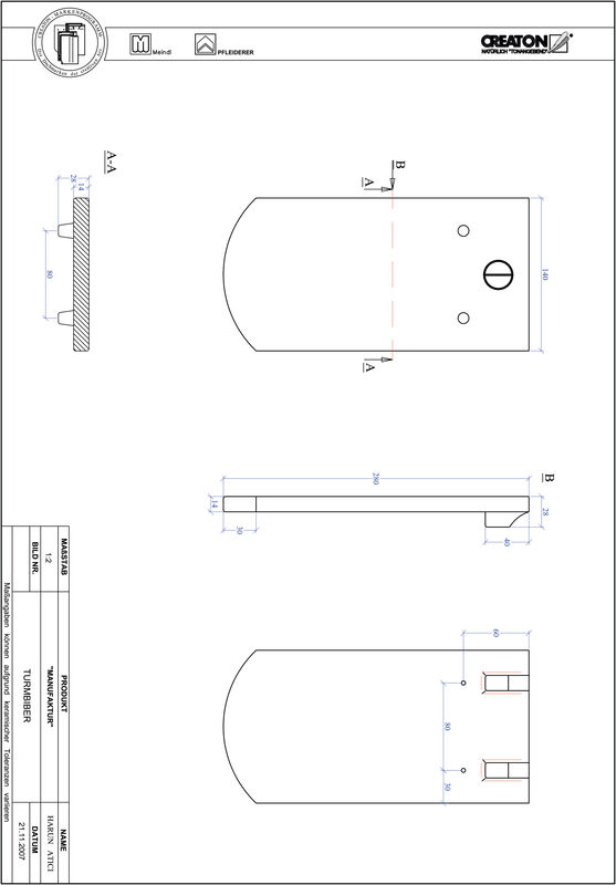 Plik CAD produktu MANUFAKTUR krój segmentowy TURMBIBER