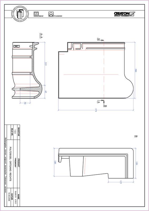 Plik CAD produktu PREMION dachówka pulpitowa boczna prawa PULTOGR