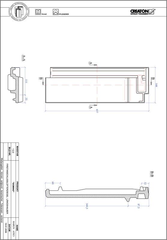 Plik CAD produktu DOMINO dachówka kalenicowa wentylacyjna połówkowa FALLH