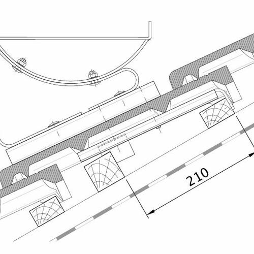 Rysunek techniczny produktu HEIDELBERG FUK PROFILIERTE-BDS