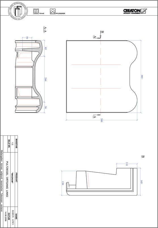 Plik CAD produktu MAGNUM dachówka pulpitowa boczna lewa PULTOGL