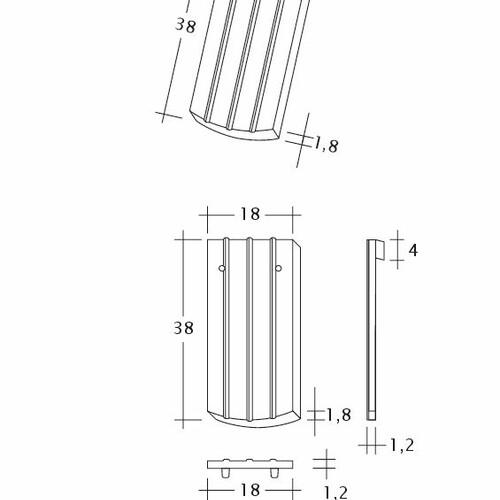 Rysunek techniczny produktu PROFIL Kera-Saechs-18cm-1-1