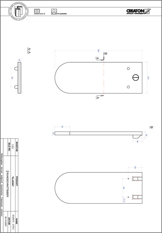 Plik CAD produktu KLASSIK krój zaokrąglony RUND-3-4