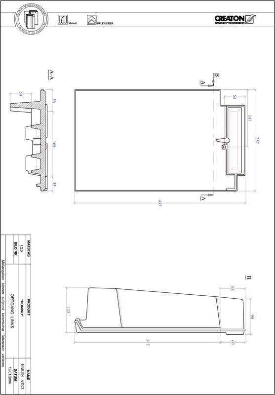 Plik CAD produktu DOMINO dachówka boczna lewa OGL