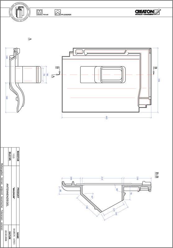 Plik CAD produktu MAGNUM dachówka antenowa ANTENNE