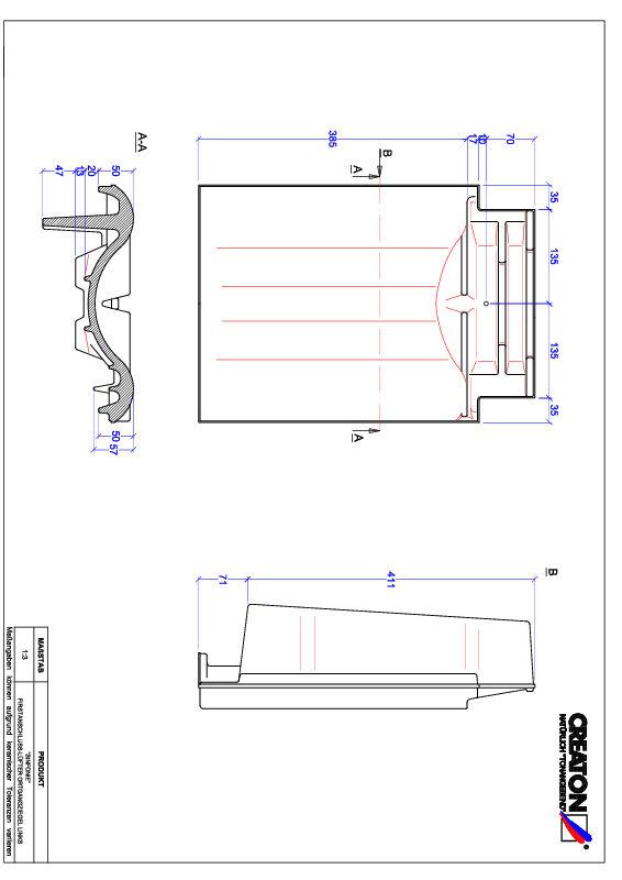 Plik CAD produktu SINFONIE dachówka kalenicowa wentylacyjna boczna lewa FALOGL