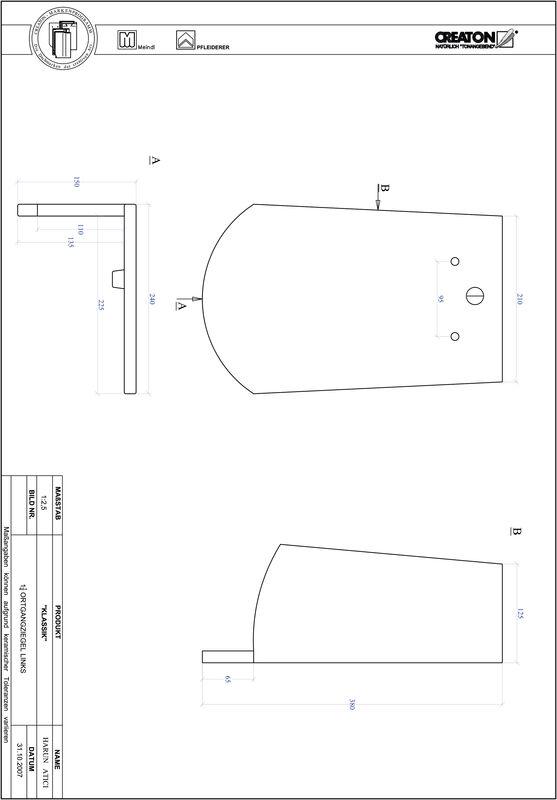 Plik CAD produktu KLASSIK krój zaokrąglony RUND-OGL-1-1-4