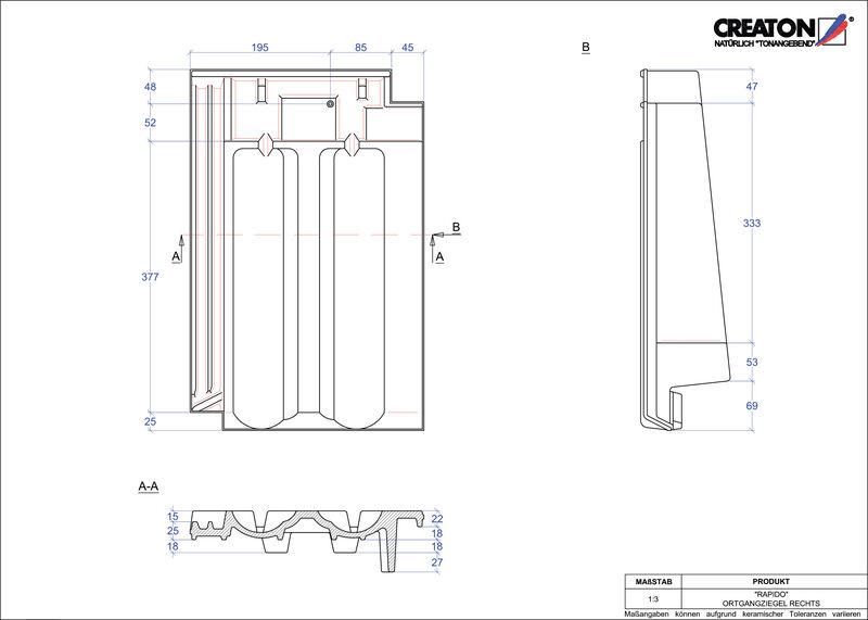 Plik CAD produktu RAPIDO dachówka boczna prawa OGR