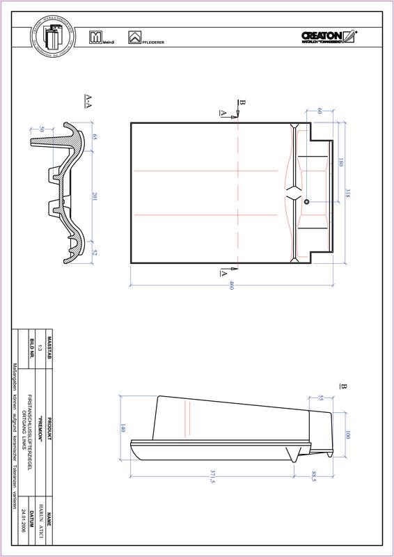 Plik CAD produktu PREMION dachówka kalenicowa wentylacyjna boczna lewa FALOGL
