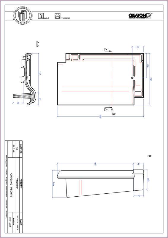 Plik CAD produktu PREMION dachówka boczna prawa OGR
