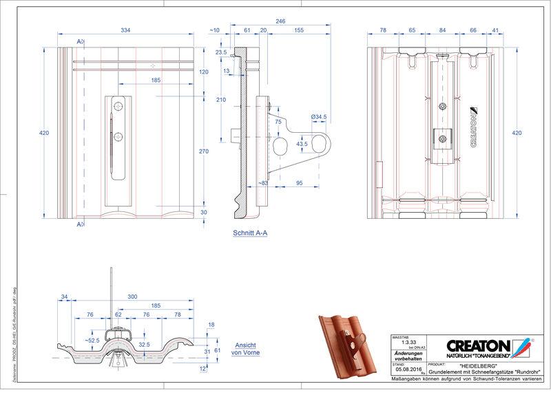 Plik CAD produktu HEIDELBERG dach. podst. Rundrohr