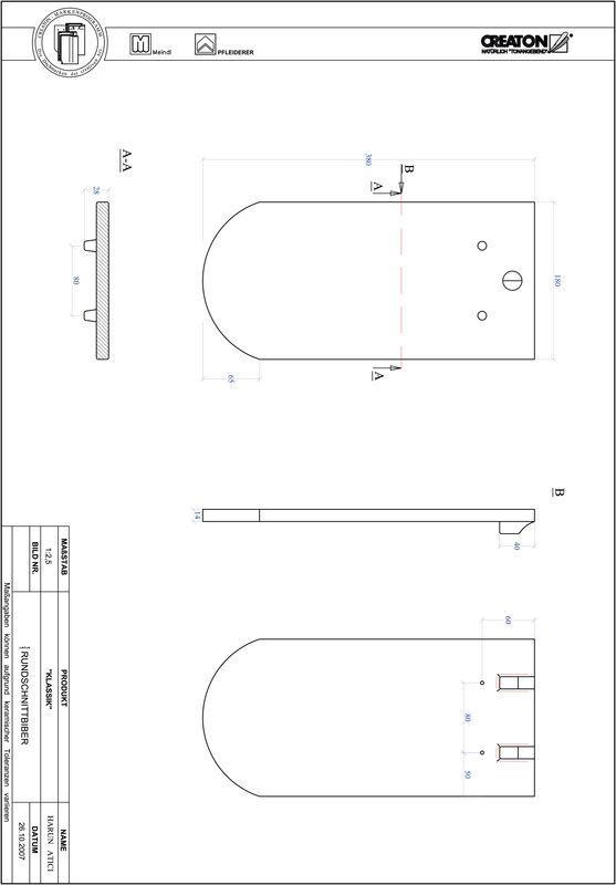 Plik CAD produktu KLASSIK krój zaokrąglony RUND-1-1