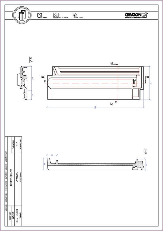 Plik CAD produktu TERRA OPTIMA dachówka połówkowa LH