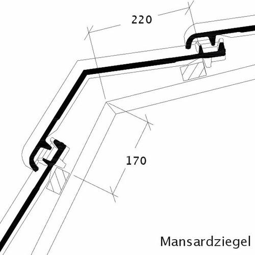 Rysunek techniczny produktu Płytka mansardowa BALANCE MAZ