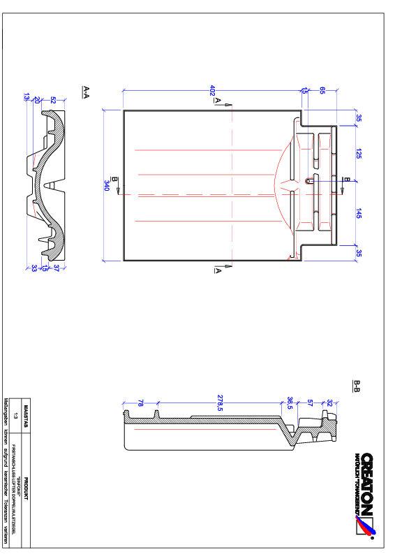 Plik CAD produktu SINFONIE dachówka kalenicowa wentylacyjna dwufalowa FALDWZ