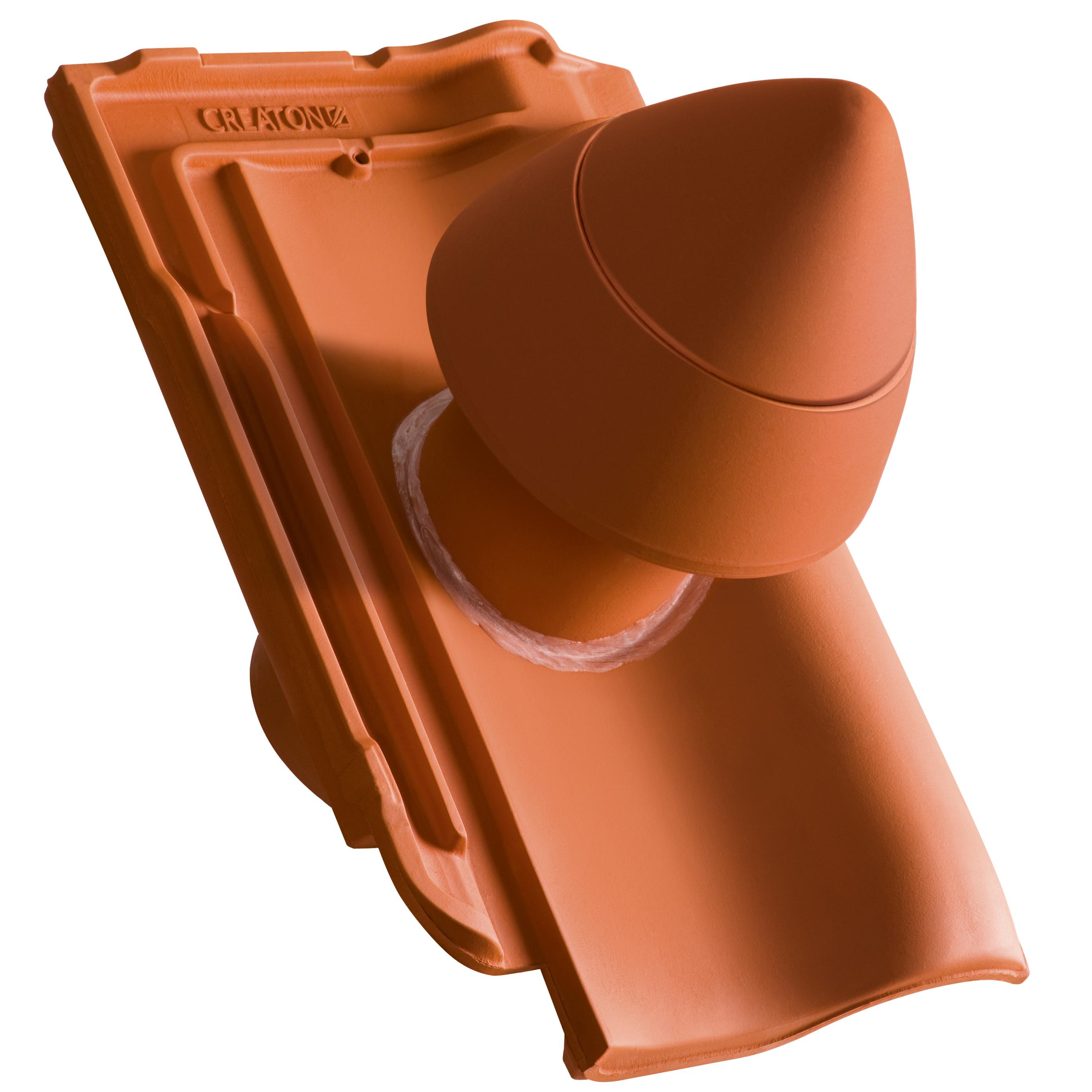 SIGNUM Ceramiczny kominek odpowietrzający instalację sanitarną SIGNUM Ø 100 mm z giętkim przewodem przyłączeniowym