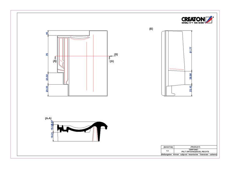 Plik CAD produktu SINFONIE dachówka pulpitowa boczna prawa PULTOGR