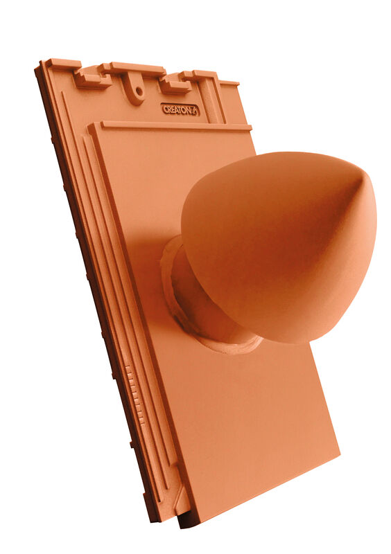 SIM SIGNUM ceramiczny kominek odpowietrzający instalację sanitarną DN 100 mm z odkręcaną pokrywą, z giętkim przewodem przył. (z adapterem)