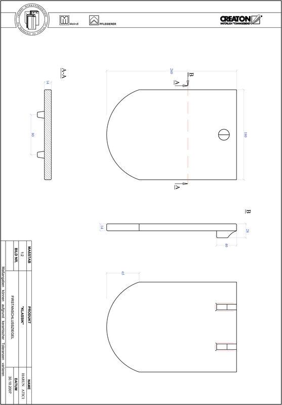 Plik CAD produktu KLASSIK krój zaokrąglony RUND-FAZ