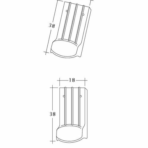 Rysunek techniczny produktu PROFIL Kera-Saechs-18cm-LUEFTZ