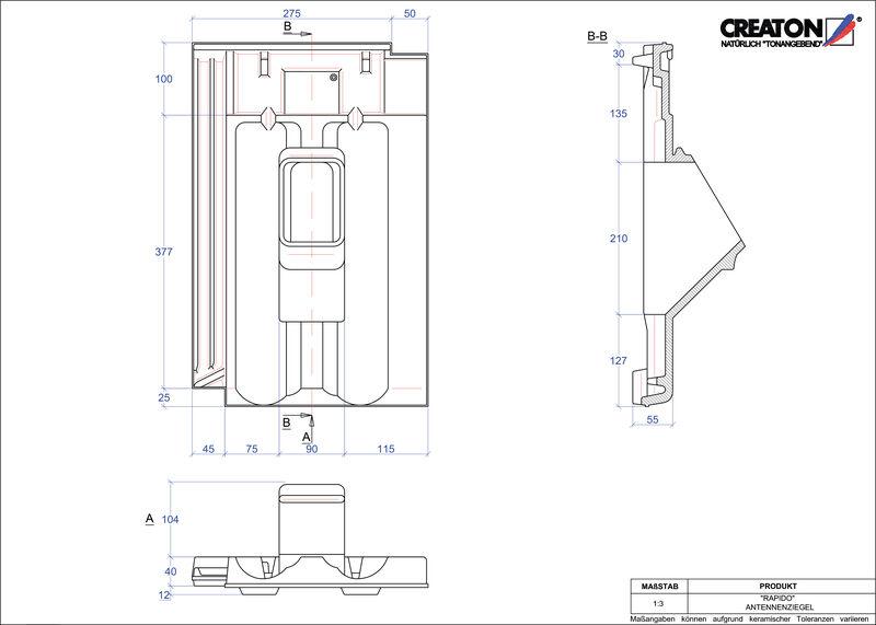 Plik CAD produktu RAPIDO dachówka antenowa ANTENNE