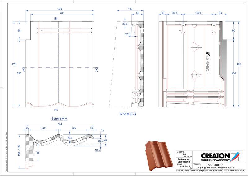 Plik CAD produktu GÖTEBORG dachówka pulpitowa boczna lewa PultOGL-90