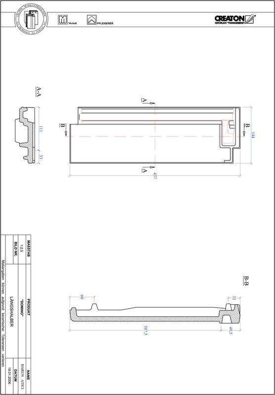 Plik CAD produktu DOMINO dachówka połówkowa LH