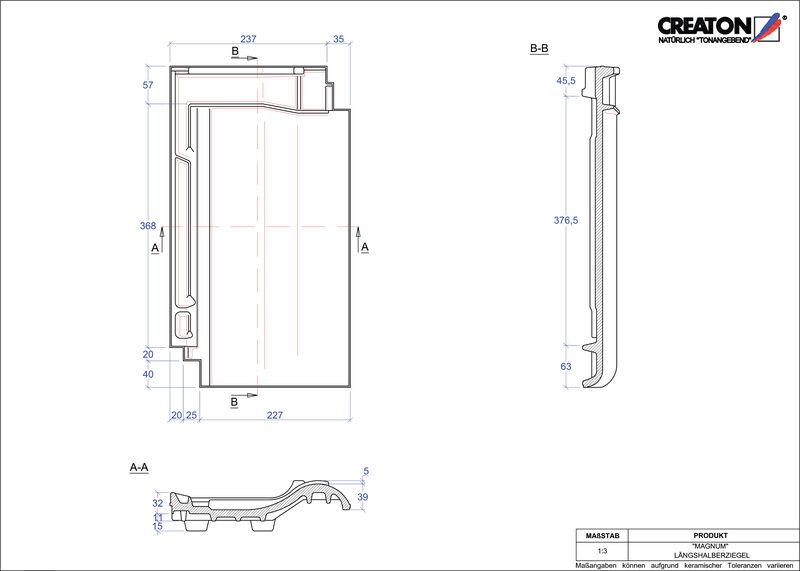 Plik CAD produktu MAGNUM dachówka połówkowa LH