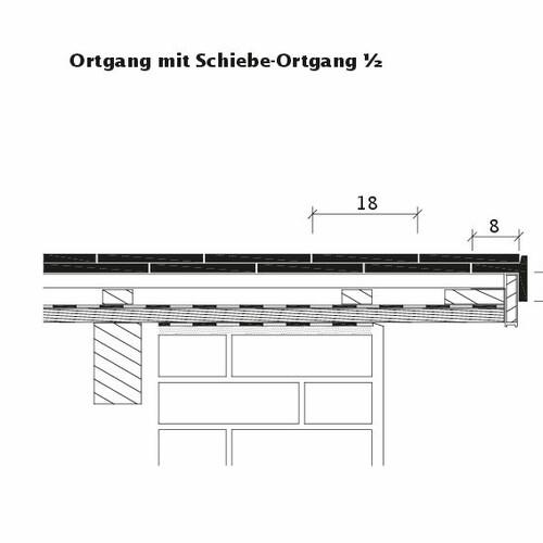 Rysunek techniczny produktu KLASSIK Schiebeortgang-1-2