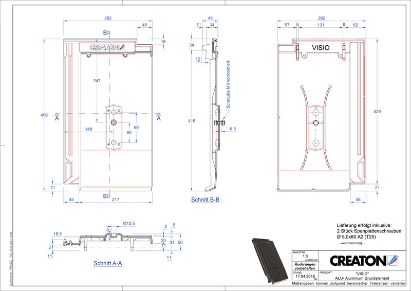 Plik CAD produktu VISIO aluminium grunt. GRUNDALU