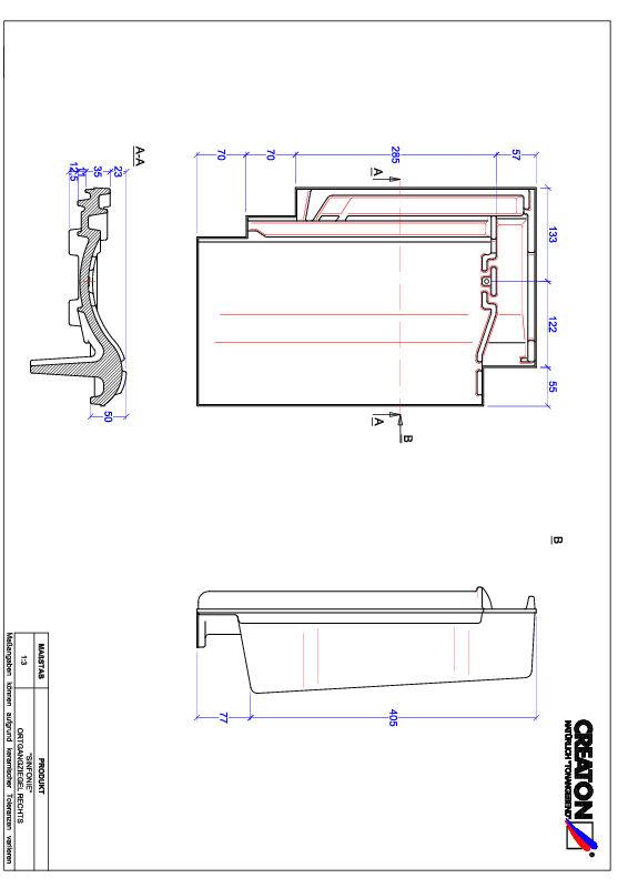 Plik CAD produktu SINFONIE dachówka boczna prawa OGR