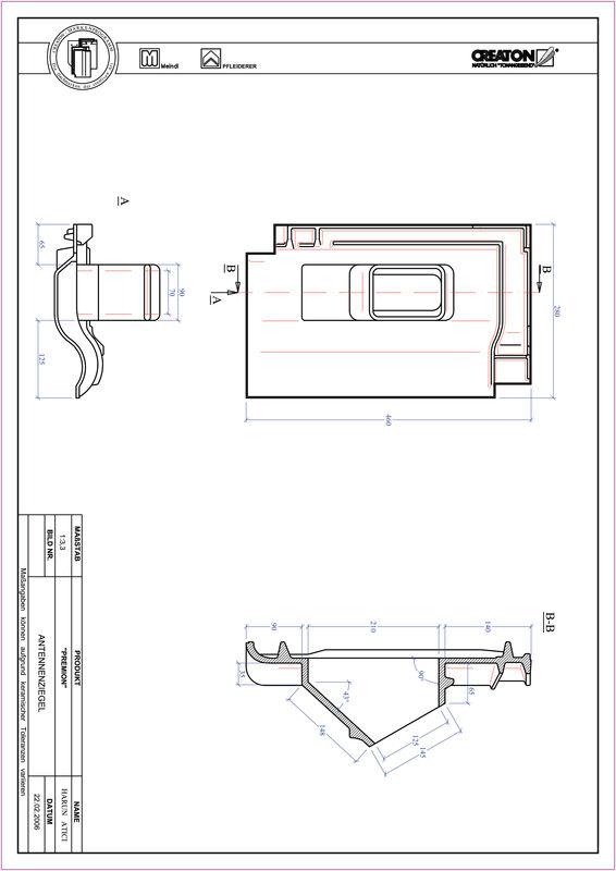 Plik CAD produktu PREMION dachówka antenowa ANTENNE