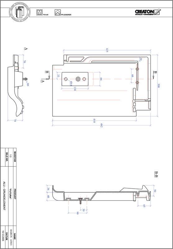 Plik CAD produktu FUTURA aluminium grunt. GRUNDALU