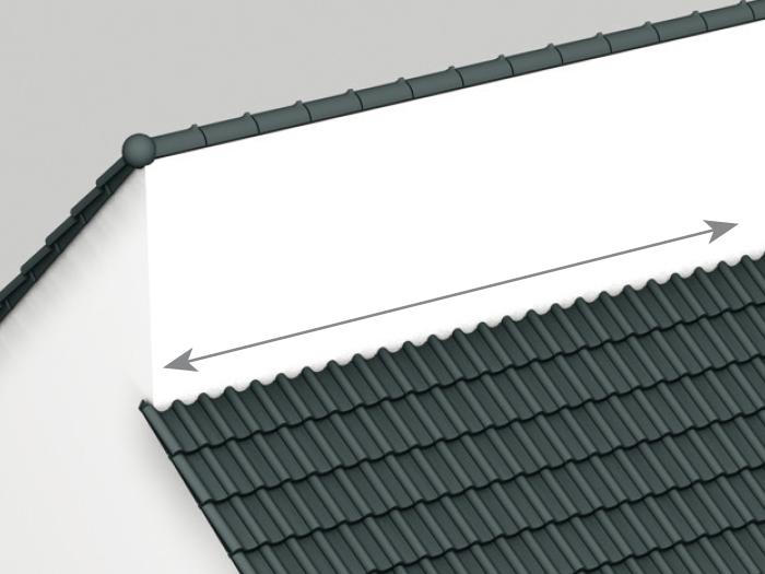 Połączenie połaci dachowej ze ścianą