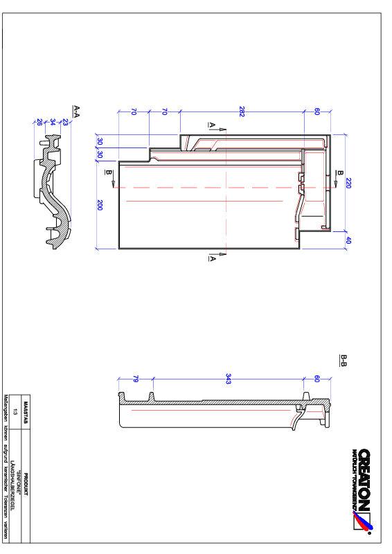 Plik CAD produktu SINFONIE dachówka połówkowa LH