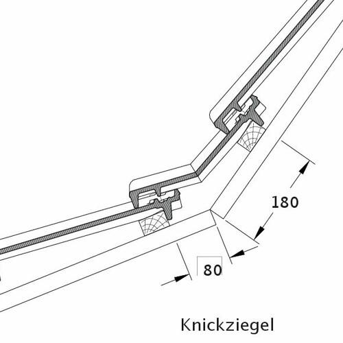 Rysunek techniczny produktu CANTUS dachówka łamana KNZ