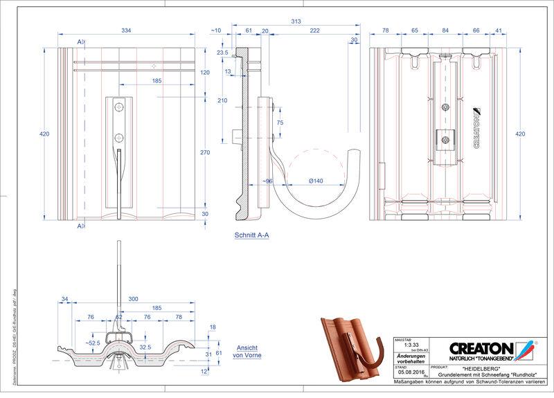Plik CAD produktu HEIDELBERG dach. podst. Rundholz