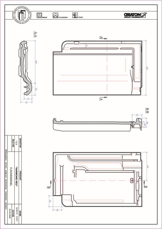 Plik CAD produktu HARMONIE dachówka połaciowa FLA