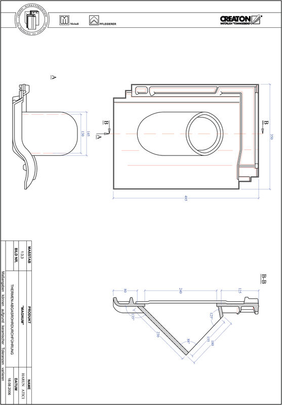 Plik CAD produktu MAGNUM dachówka przelotowa do kominów gazowych THERME