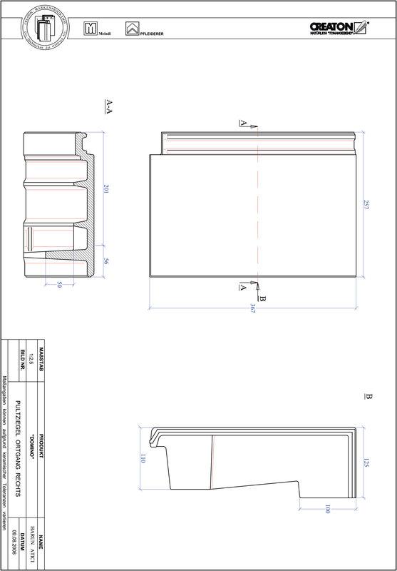 Plik CAD produktu DOMINO dachówka pulpitowa boczna prawa PULTOGR