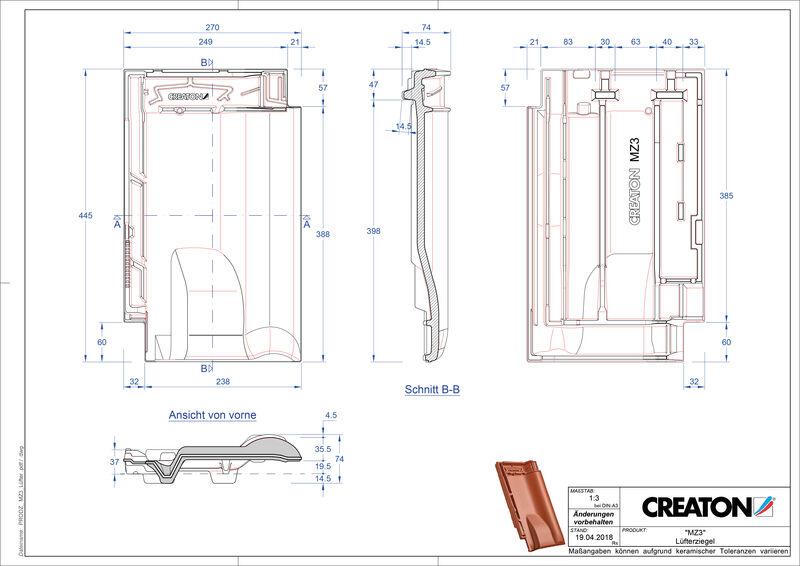 Plik CAD produktu MZ3 dachówka wentylacyjna LUEFTZ