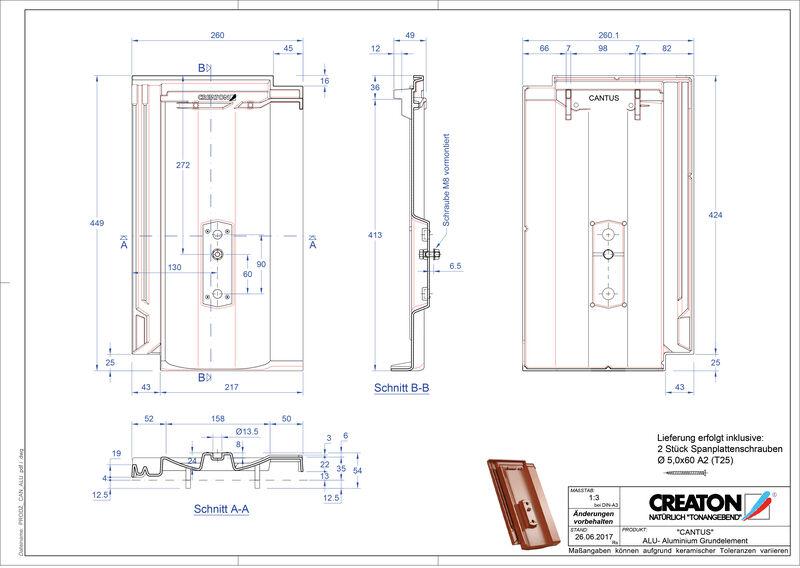 Plik CAD produktu CANTUS aluminium grunt. GRUNDALU