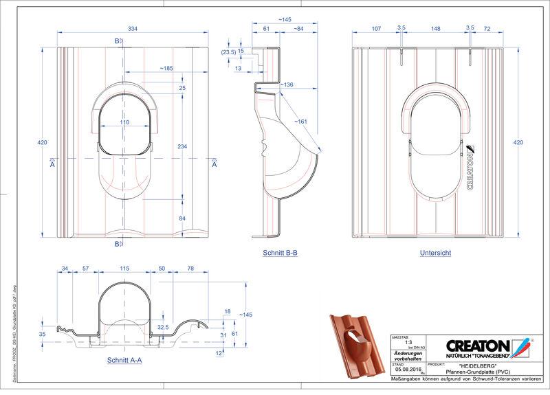 Plik CAD produktu HEIDELBERG akcesoria Grundplatte-PVC