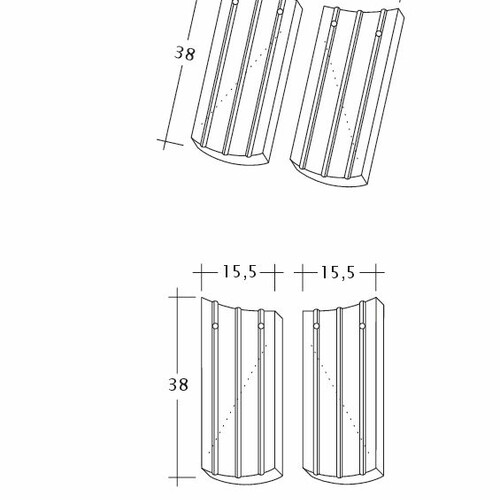 Rysunek techniczny produktu PROFIL Kera-Saechs-15cm-AnAbfuehrer