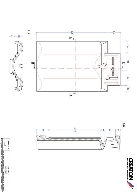 Plik CAD produktu MELODIE dachówka kalenicowa wentylacyjna dwufalowa FALDWZ