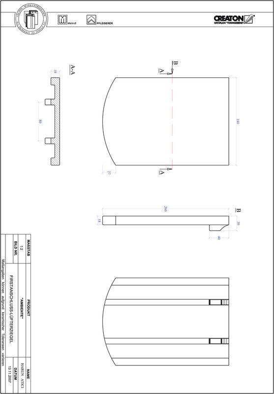 Plik CAD produktu AMBIENTE krój segmentowy SEG-FALZ