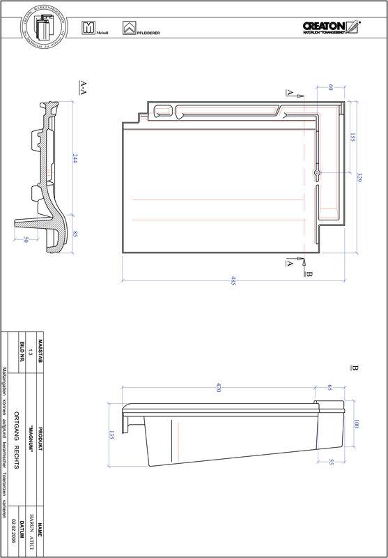 Plik CAD produktu MAGNUM dachówka boczna prawa OGR
