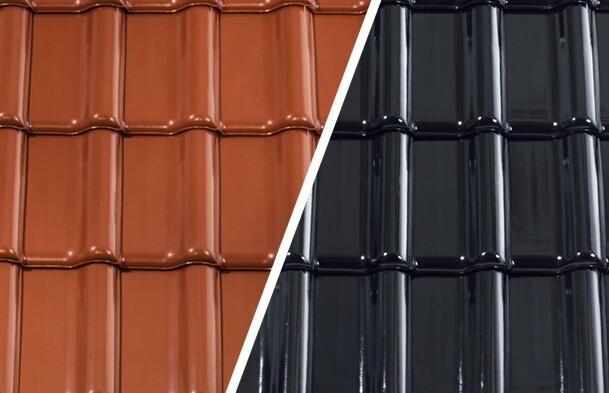 Dachówki ceramiczne - angobowanie i kolory stonowane