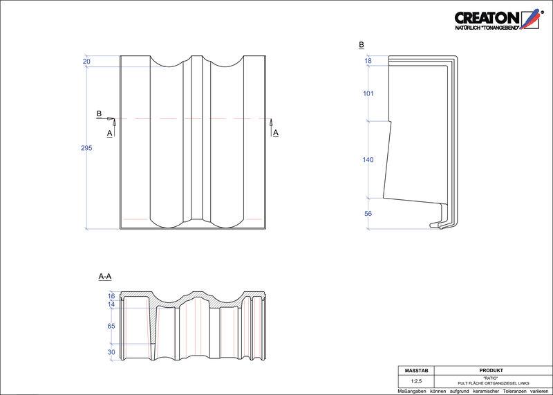 Plik CAD produktu RATIO dachówka pulpitowa boczna lewa PULTOGL